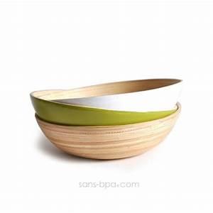 Bol En Bambou : assiette bol bambou nature ekobo sans ~ Teatrodelosmanantiales.com Idées de Décoration