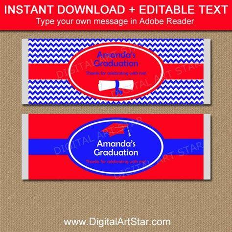 graduation candy bar wrapper template printable graduation