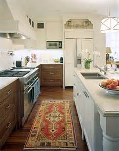 White and Wood Mixed Kitchen Cabinets