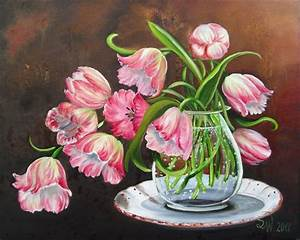 Blumen Bilder Gemalt : fr hlingsgr e blumen rosa pink romantik von simone wilhelms bei kunstnet ~ Orissabook.com Haus und Dekorationen