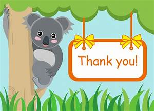 Free Koala Bear Thank You Card Templates