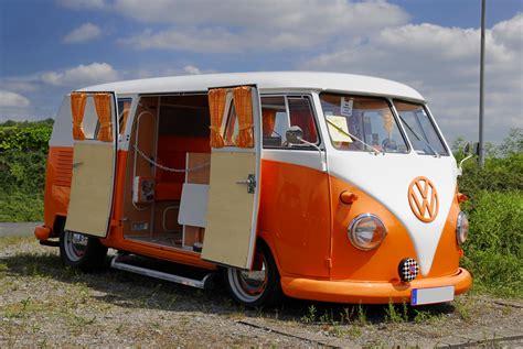 orange volkswagen van vw bus battery