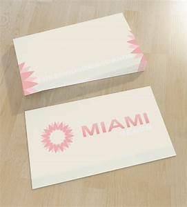 Soft business card with logo unique business cards for Miami business cards