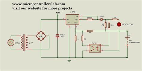 Volt Battery Charger Circuit Diagram