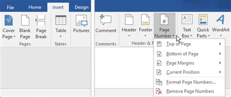 add page number x of y to a document word