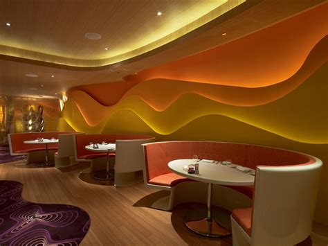 Wall Paint Design For Fast Food Restaurant With Cool