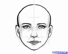 how to draw a human fa...