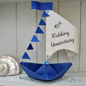 personalised birthday sail boat card by the