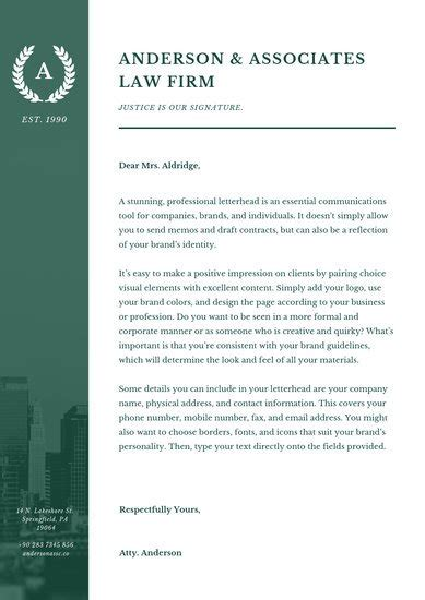 customize  law firm letterhead templates  canva