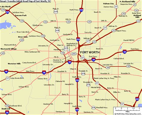 map of fort worth texas travelsmaps com
