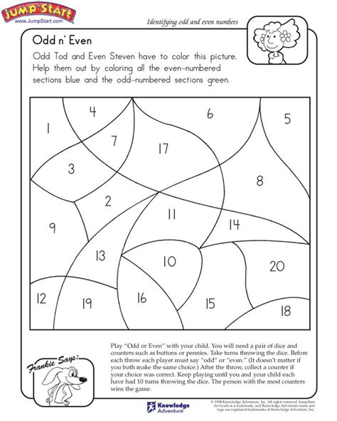 quot n even quot 1st grade math worksheet on and even
