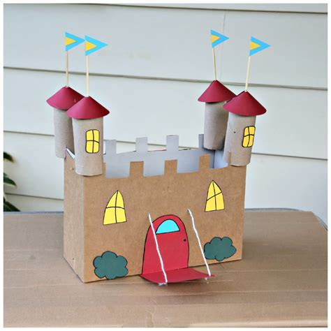 Recycled Cardboard Castle Craft · Kix Cereal