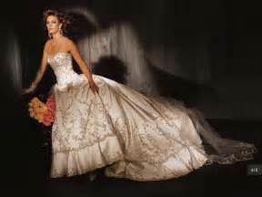embroidered wedding dress wedding dresses with gold embroidery sangmaestro