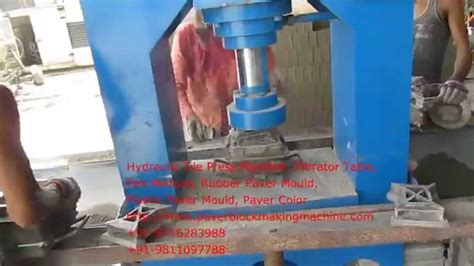 hydraulic tile press machine paver block machine