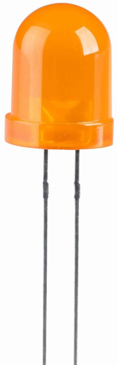 Led Orange Mm 8mm Mcd Bedrahtet Reichelt