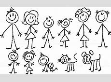 Stick Family Stock Vector Art & More Images of Adult