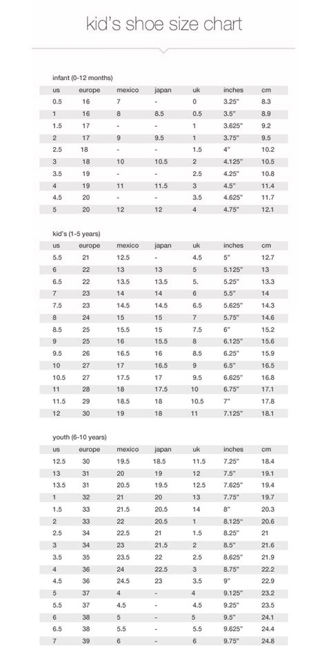 size charts measurements jcpenney