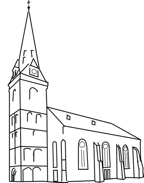 Kleurplaat Kerk by Kerk Kleurplaat Kleurplaat Kerk Gebouw Kleurplaten Nl
