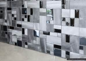 modern black glass metal backsplash tile backsplash - Glass Tiles For Backsplashes For Kitchens