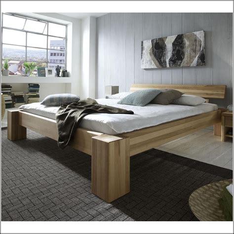 Bett Kernbuche Massiv 200x200  Betten  House Und Dekor