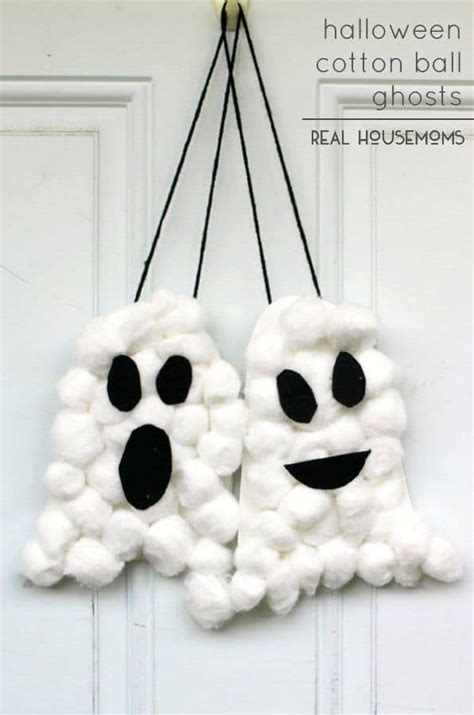 cotton ghost craft for cotton ghosts real housemoms 7525
