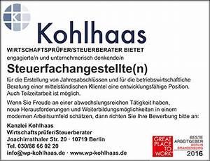 Stellenangebote Berlin Teilzeit : stellenangebote kanzlei helmut kohlhaas steuerberater berlin ~ Orissabook.com Haus und Dekorationen