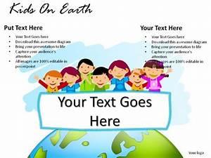 Kids On Earth PowerPoint Presentation Slides