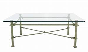 rectangle wrought iron base glass top coffee table for With rectangle coffee table with glass top