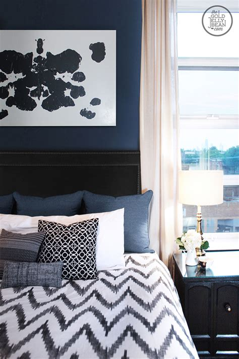 grey bedroom with navy accent wall 2017 2018 best cars