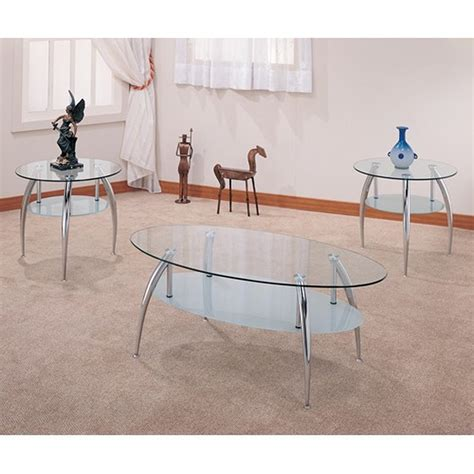 Browse our great prices & discounts on the best silver end tables. Silver Glass Coffee Table Set - Steal-A-Sofa Furniture Outlet Los Angeles CA