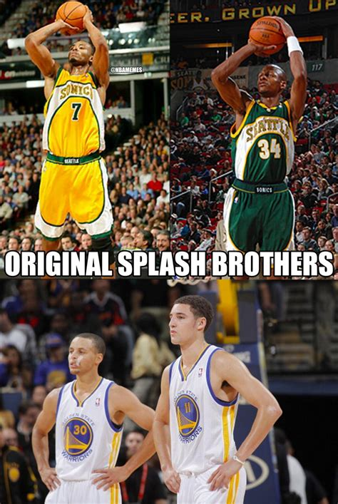 "Nba Memes On Twitter ""the Original Splash Brothers Return With 4 3pointers In The 1st Half"