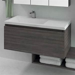 meuble vasque salle de bain 100 gascity for With meuble salle de bain 100 cm simple vasque