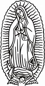Clipart Lady Guadalupe Virgen Coloring Lourdes Clipground sketch template