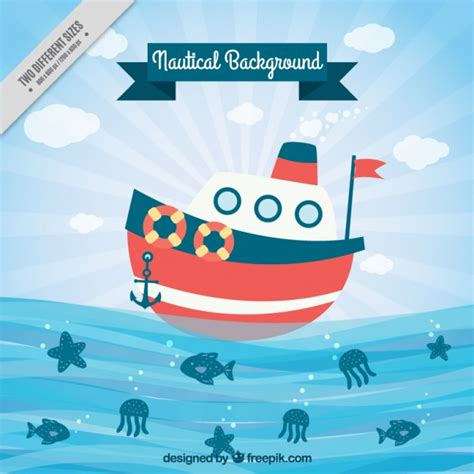 Sailing Boat Elements by Boat Sailing Background Vector Premium Download