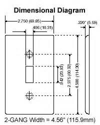 leviton 88078 2 1 duplex 1 telephone cable 406 device combination wallplate standard size