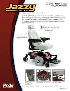 pride mobility mobility aid jazzy select 6 user s guide