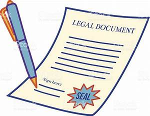 Legal document stock vector art 166011405 istock for Documents cartoon images