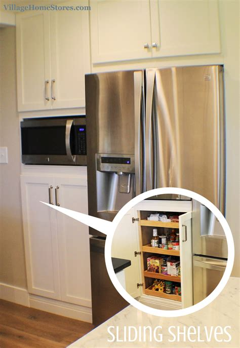 kitchen cabinets for built in appliances a built in microwave is located in the center of a