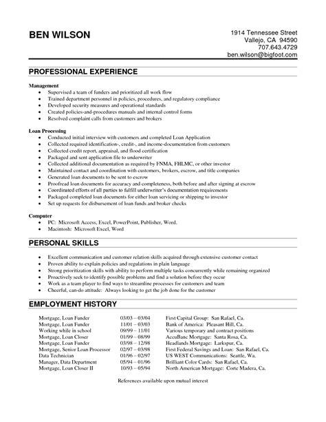 processor resume general administration sle resume