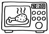 Microwave sketch template