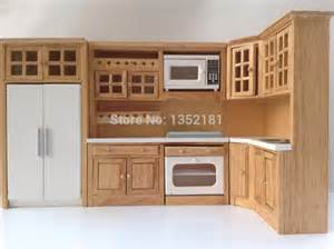 kitchen dollhouse furniture 1 12 dollhouse miniature integral kitchen furniture set 1086 jpg