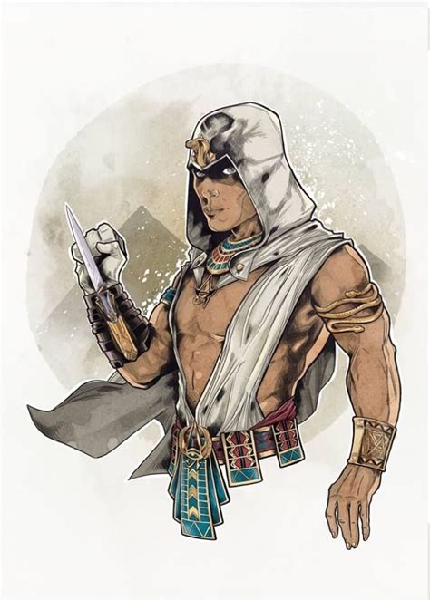 cartoon    ancient egypt pharaohs character assassin  hawk