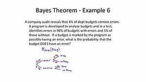 Using Bayes Theorem Through Tree Diagrams