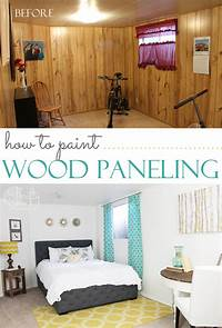 how to paint over wood paneling Thrifty and Chic - DIY Projects and Home Decor