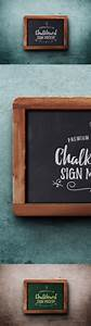 Chalkboard sign psd mockup graphicsfuel for Chalkboard sign templates