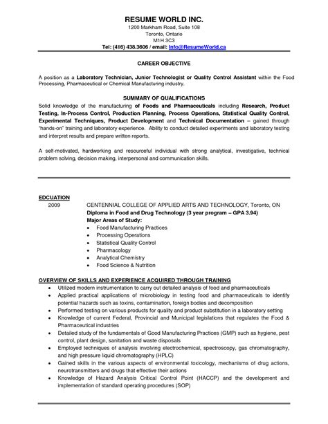 sle resume for microbiology lab technician microbiology resume sles great resumes