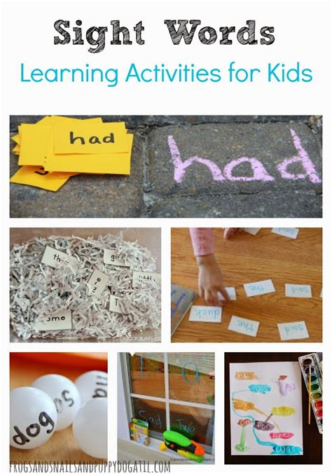 sight words learning activities for fspdt
