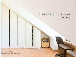 Einbauschrank Für Waschmaschine : einbauschrank f r ein b ro mit dachschr ge ~ Michelbontemps.com Haus und Dekorationen