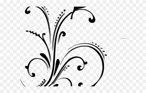 library  floral scroll clip royalty   png