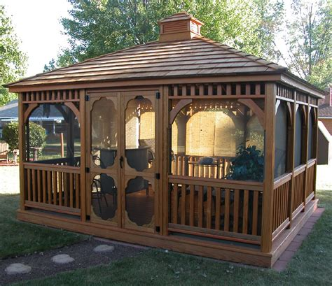 gazebo wooden bayhorse gazebos barns rectangle wood gazebo 10 x